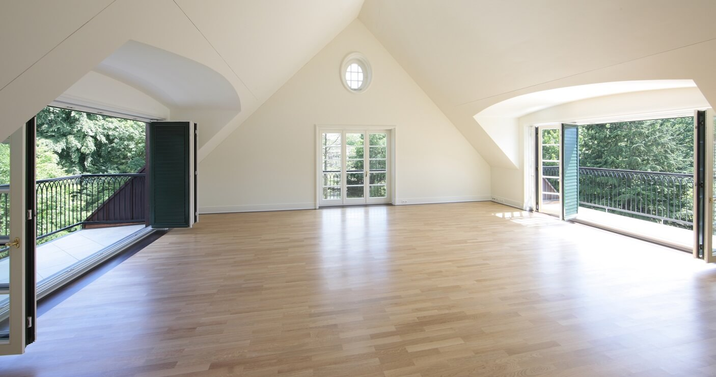 Parkettboden verlegen Dach