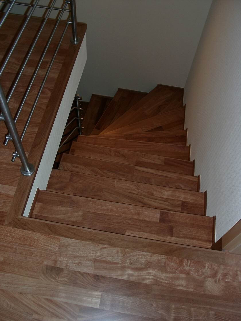 Treppe Parkettboden
